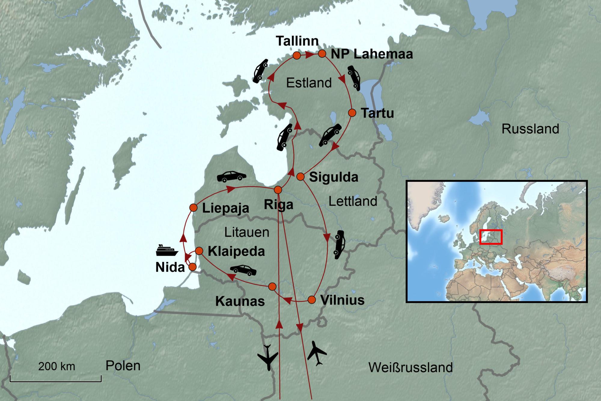 Estland Lettland Und Litauen